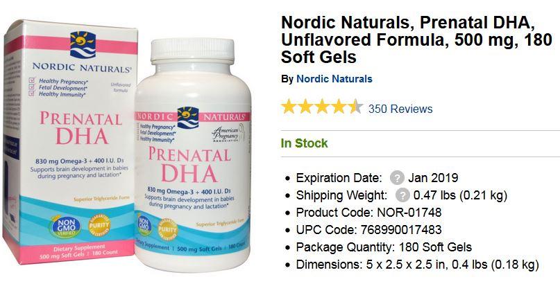 Nordic Naturals Prenatal DHA